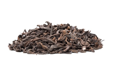 pu: Pu-erh chinese tea isolated on white