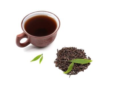 Chinese pu-erh tea  Stock Photo