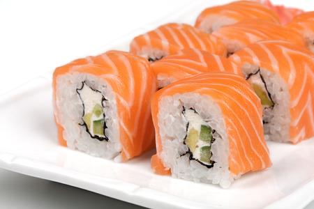 philadelphia roll: Philadelphia sushi roll. Stock Photo