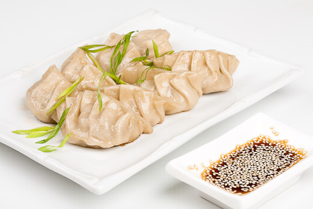 meat alternatives: Japanese dumplings with soy