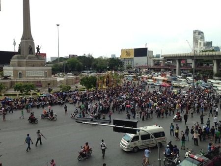 coup: Anti coup protester in Bangkok