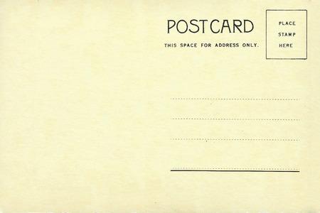 ビンテージの白紙のはがき裏 写真素材