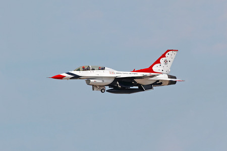 aeronautics: Thunderbird plane in an air show