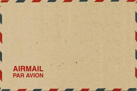 Brown Airmail Envelope Stock Photo