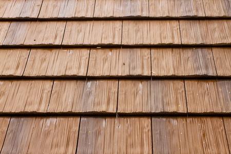 rough: Wooden roof tiles