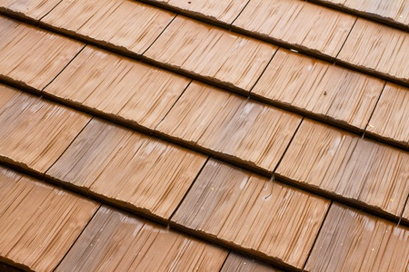 traditional textured: Wooden roof tiles