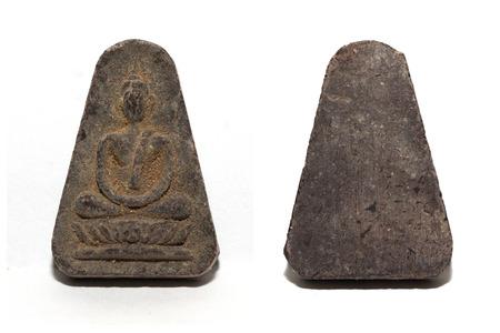 dogma: Small buddha image on white background