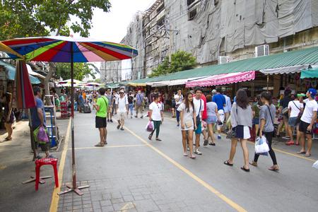 Tourist shopping in Chatuchak weekend market Editorial