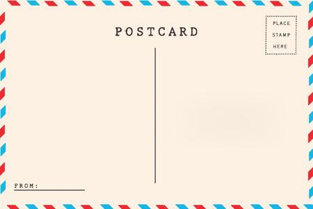 Posta aerea retro cartolina in bianco. Archivio Fotografico