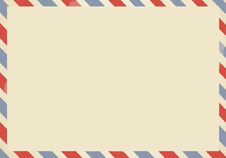 Airmail backside blank postcard.