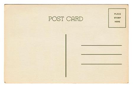 Back of vintage blank postcard 免版税图像