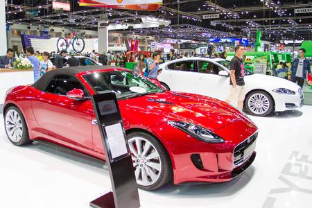 motorshow: BANGKOK - APRIL 01 : 2015 jaguar car on display in The 36 th Bangkok International Motorshow , on APRIL 01, 2015 in Bangkok, Thailand