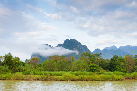 nam: Nam Song river Vang Vieng, Lao P.D.R. Editorial