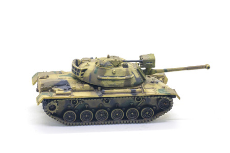battalion: World war II tank model toy isolate on white background