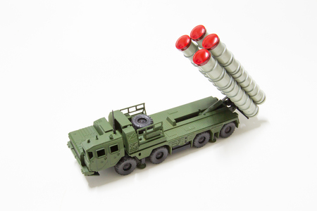 battalion: Anti aircraft missile model toy Stock Photo
