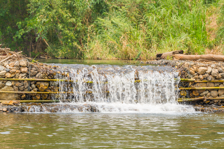 weir: small weir irrigate in the Pai Thailand Stock Photo