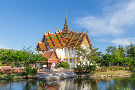 The Dusit Maha Prasat in the Ancient Siam Thailand