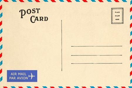 Back of airmail blank postcard 免版税图像
