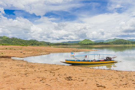 kaeng: Boat at the Kaeng Krachan Dam in Kaeng Krachan National Park Thailand