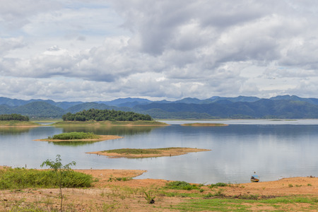 kaeng: Landscape at Kaeng Krachan Dam in National Park Thailand Stock Photo