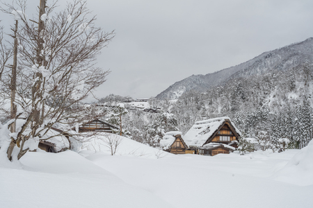 Ancient village in Shirakawago in Japan is a UNESCO World Heritage site. It's a famous place for sightseeing