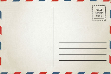 back of vintage blank postcard with space for text stock photo