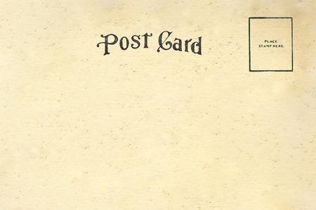 Back of vintage blank postcard Reklamní fotografie