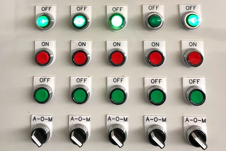 Light switch Control buttons working status in factory