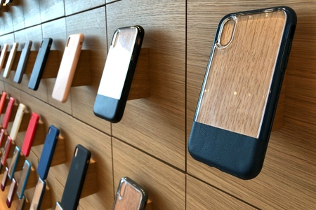 BANGKOK THAILAND -  24 NOV 2018: Apple iphone X series cases hanging on the wall in Apple store in Bangkok Thailand, This is the first Apple store was opened in Icon Siam shopping mall Redakční