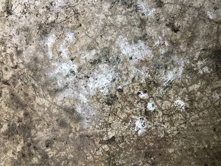 Dirty crack concrete floor with shout