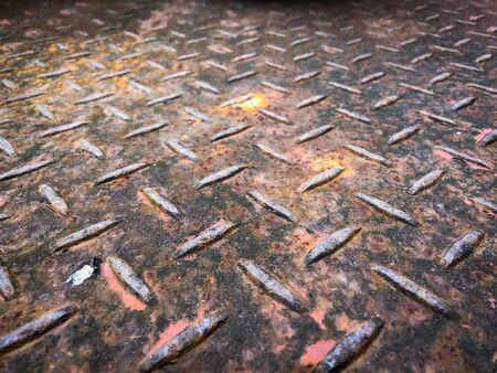 Steel plate with rusty as texture background 版權商用圖片