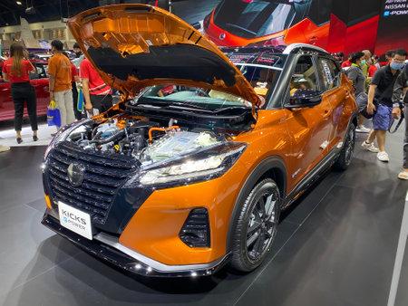 Bangkok Thailand 12 Dec 2020: Nissan Kicks show in the Motor Expo 2020 exhibitions in Bangkok, Thailand
