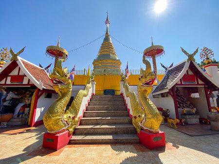 Pra that doi kum temple in  Chiangmai north of Thailand