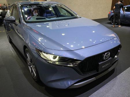 Bangkok Thailand 12 Dec 2020: Mazda car show in the Motor Expo 2020 exhibitions in Bangkok, Thailand