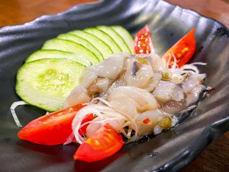 Tako wasabi Japanese food mixed fresh octopus with wasabi