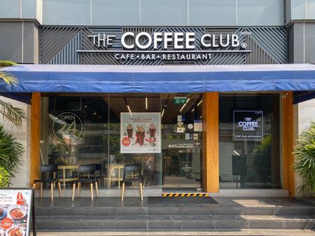 Bangkok Thailand - 15 Jan 2021: The coffee club restaurant at Sukumwit16 road branch