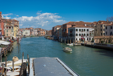 I was attracted to venice so much that I ended up travelling their 2 times for 7 days each. Shot this from water taxi hand held in 2015 april from one of teh number of bridges