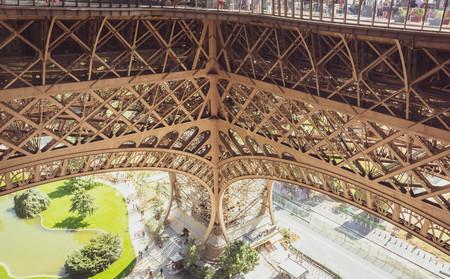 closeup architecture of eiffel tower,paris,france