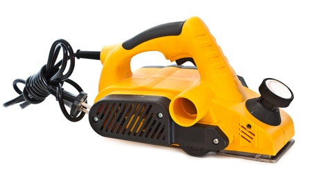 sander: Electric sander for home handyman use, isolated over white