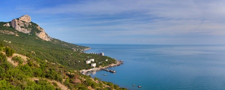 Panorama of Cape St. Elias. Crimea at summer photo