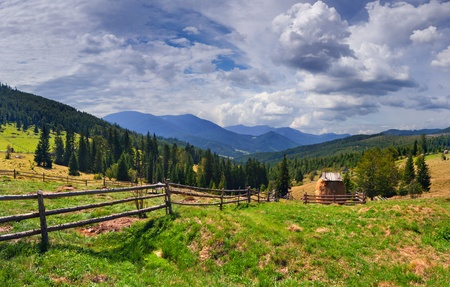 Beautiful summer landscape in the mountains at summer Stock Photo - 13484448