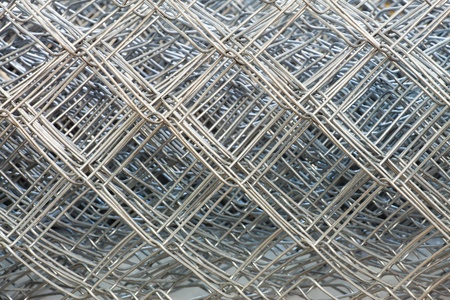 Large texture of gray steel Chicken Wire photo