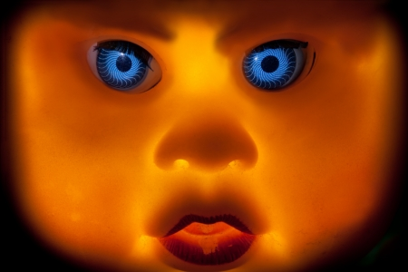 Face of the scary doll  photo