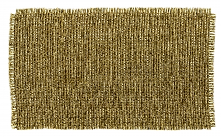 Textile Patch Isolated On White Background. Ready for your message. Stock Photo