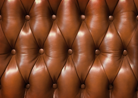 Closeup texture of vintage brown leather sofa for background Stock Photo - 17545903