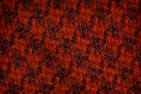 Close up of dark red colored wool textile in Hi-Res photo