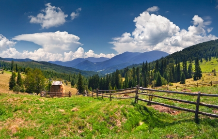 Beautiful summer landscape in the mountains at summer Stock Photo - 18003947