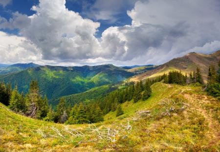 Beautiful spring landscape in the Carpathian mountains. Ukraine, Europe Stock Photo
