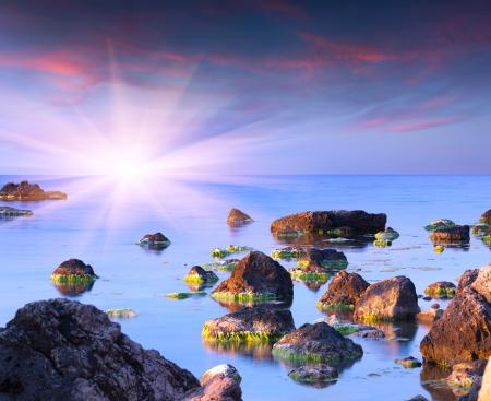 Colorful summer seascape photo