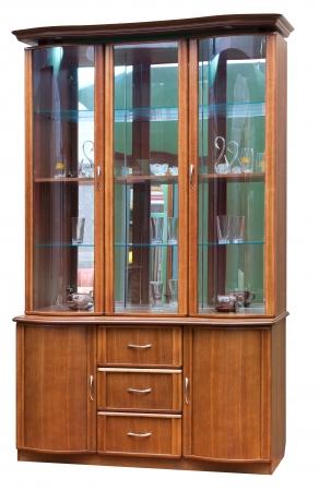 bureau: Wooden old stile bureau. Isolated on white